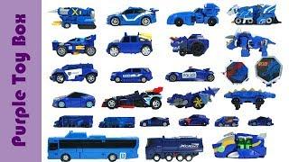 31 Blue Transformer Toys, Car Airplane Animal Dinosaur Transformer