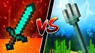 Diamond Swords VS Tridents! WHAT'S BETTER?