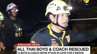 Thai Cave Rescue: All members of the Wild Boar soccer team rescued