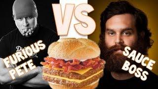 Furious Pete vs Sauce Boss - Baconator | Furious Pete
