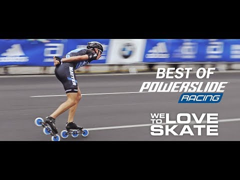 Video POWERSLIDE Roller vitesse PULS TRINITY 3x125 Blanc Noir