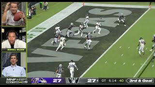 The Manning Brothers & Russell Wilson Live Reaction to Raiders vs Ravens INSANE ENDING