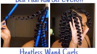 Natural Hair Flexi Rod Set l Heatless Wand Curls