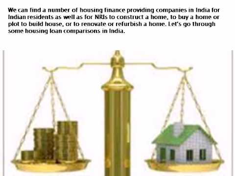 Comparison of Housing Loan Companies in India