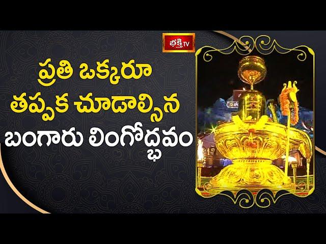ప్రతి ఒక్కరూ తప్పక చూడాల్సిన బంగారు లింగోద్భవం | 14th Day Koti Deepotsavam 2019 | Bhakthi TV