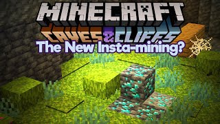 Is Moss The New Insta-Mining? ▫ Minecraft 1.17 Snapshot 21w10a ▫ Caves & Cliffs Update