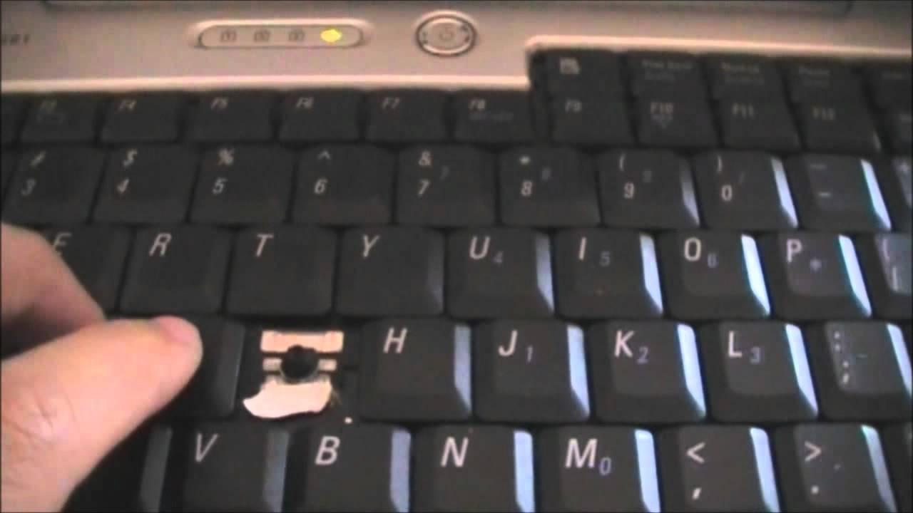 Fix Laptop Stuck Key - YouTube
