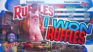 I WON THE FIRST RUFFLES EVENT IN NBA 2K20! UNLIMITED BOOSTS AND AND SLEEVES! RUFFLES 4POINTER EVENT