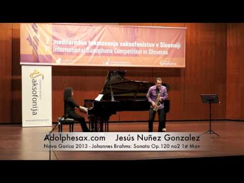 Jesús Nuñez Gonzalez - Nova Gorica 2013 - Johannes Brahms: Sonata Op 120 no2 1st Mov