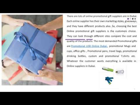 The Best Online Promotional Gift Suppliers in Dubai