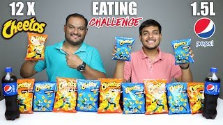 CHEETOS & PEPSI CHALLENGE | Cheetos Cheese Ball & Cheese Puffs Eating Competition | Food Challenge
