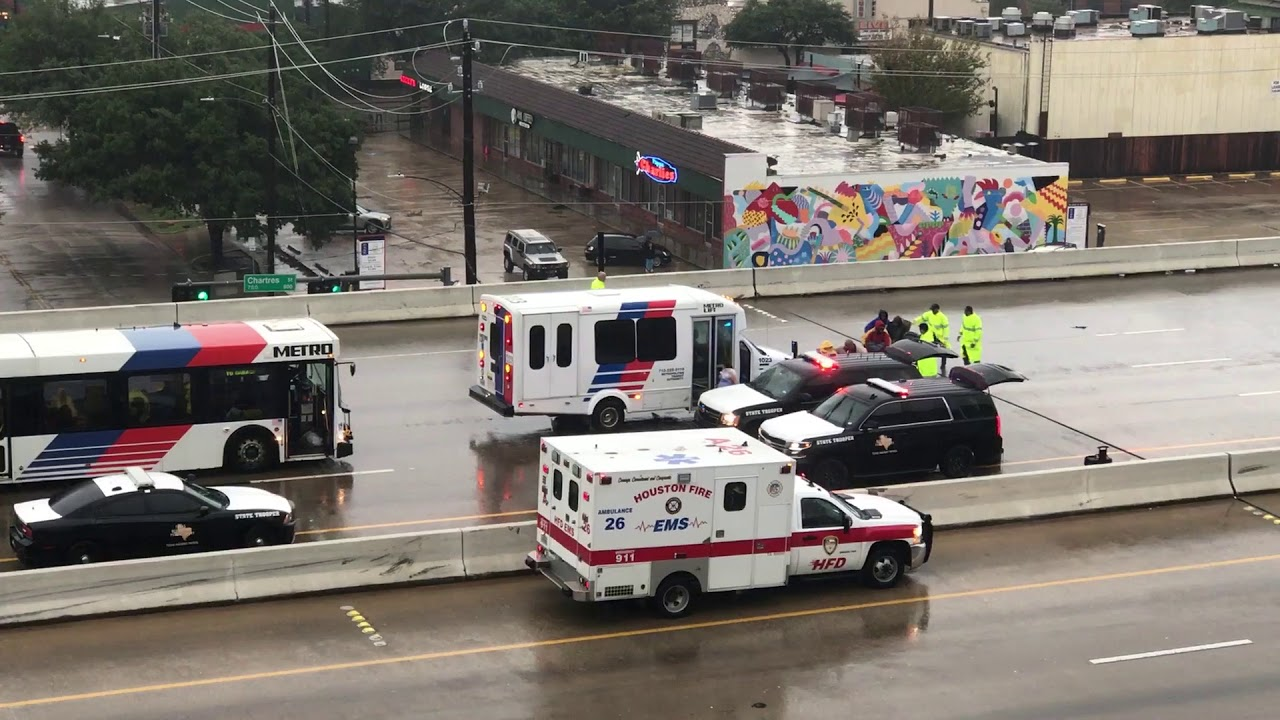 Rescue helicopters deliver evacuees to Houston convention center
