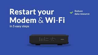 Tutorial restart modem & wifi router   First Media