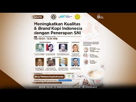 https://youtu.be/RnY4rOP1DHQMeningkatkan Kualitas & Brand Kopi Indonesia dengan Penerapan SNI