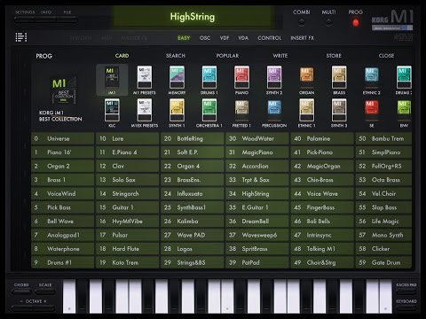The Korg iM1, The BIG Soundtest for iPad, Awesome Synth