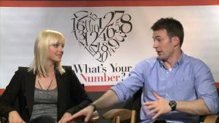 WHAT'S YOUR NUMBER interviews with Anna Faris, Chris Evans, Chris Pratt, Tom Lennon