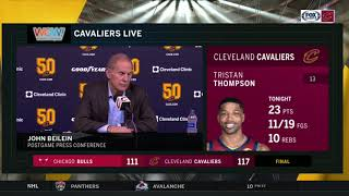 Cleveland Cavaliers coach John Beilein's postgame comments following Cavs' win