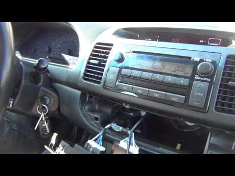 how to toyota camry car stereo radio removal repair 2002 2006 replace cd ta. Black Bedroom Furniture Sets. Home Design Ideas