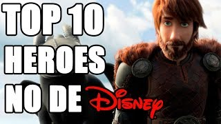 Top 10 Heroes NO animados por Disney