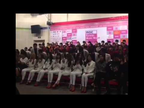 [Fancam] 141025 All Artists (EXO, SNSD, 2PM & More) Introduction at Korean Music Wave in Beijing