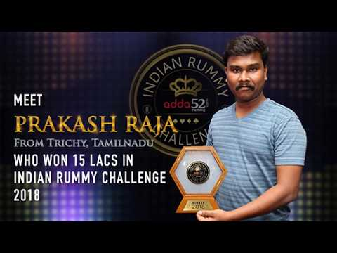 How Prakash Raja, won 15 Lacs playing rummy with just Rs 30!!