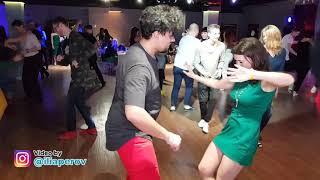Boris Hecha and Ekaterina Svidina Social dancing at Salsa Night Awards 2017-2018 (SNA2017)