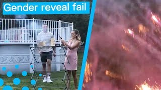 Gender Reveal Fireworks Fail Ends in Disaster