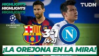 Highlights | Barcelona 3(4)-(2)1 Nápoli | Champions League 2020 - 8vos final | TUDN