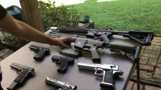AIRSOFT SHOOTING TEST OF ALL MY GUNS