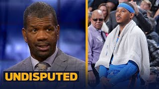 Rob Parker doubts Carmelo's impact will make Houston a threat in the West | NBA | UNDISPUTED