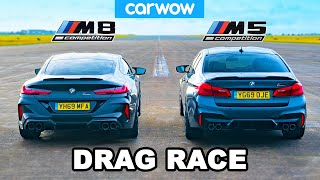 BMW M8 vs M5 - DRAG RACE, ROLLING RACE & BRAKE TEST