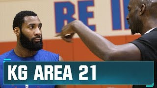 KG Works Out With Andre Drummond | Area 21