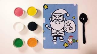 Color Sand Painting Santa Claus || Jingle Bells