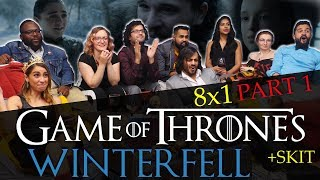 Game of Thrones - 8x1 Winterfell [Part 1] - Group Reaction