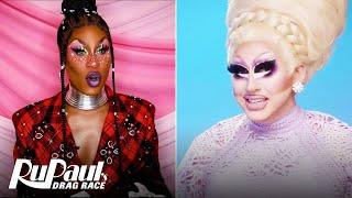 The Pit Stop S13 E1 | Trixie Mattel & Shea Couleé Recap the Premiere | RuPaul's Drag Race