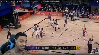 FlightReacts Phoenix Suns vs Los Angeles Clippers - Full Game Highlights | August 4, 2020!