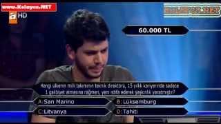 Kim milyoner olmak ister 280. bölüm 02.11.2013 Osman Yılmaz