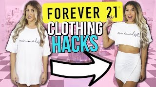 5 FOREVER 21 CLOTHING Hacks EVERY Girl MUST KNOW !!