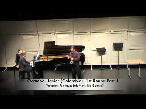 Ocampo, Javier (Colombie). 1st Round Part 1
