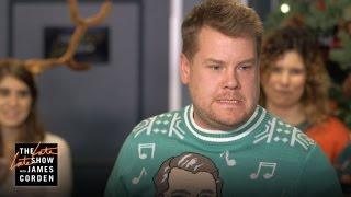 James Corden Hosts His Staff's Secret Santa Gift Exchange