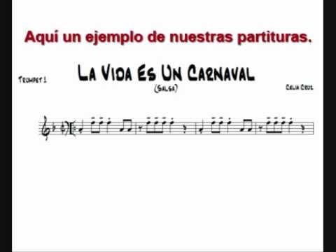 Celia Cruz - La Vida Es Un Carnaval - PARTITURAS DE MUSICA