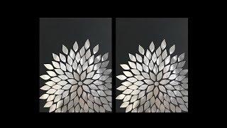 Aluminum Foil DIY Wall Art Decor