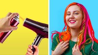 DIY HAIR HACKS FOR LAZY GIRLS || Genius Beauty Life Hacks by 123 GO! GOLD