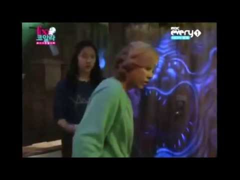 [HD 720P] Funny f(x) Krystal & Luna visits Haunted House in Japan during f(x)'s Koala [LunStal Cut]