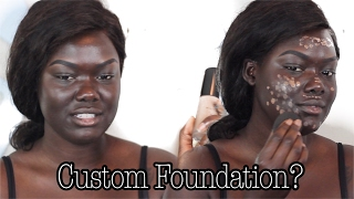 Custom Foundation From An App | MatchCo|| Dark Skin || NYMA TANG