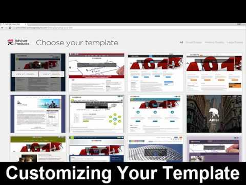 Customizing Templates For Build Advisor Websites