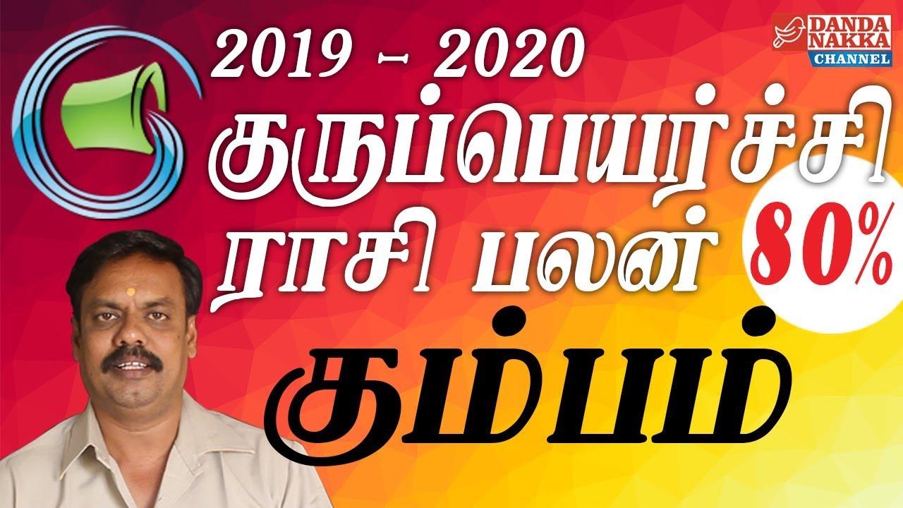 கும்பம் ராசி குருப்பெயர்ச்சி பலன்கள் 2019-2020, KUMBAM GURUPEYARCHI PALAN  19-20, DANDANAKKA CHANNEL