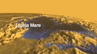 This colorized movie from NASA's Cassini mission takes viewers over the largest seas and lakes on Saturn's moon Titan.  The movie is made from radar data received during multiple flyovers of Titan fro