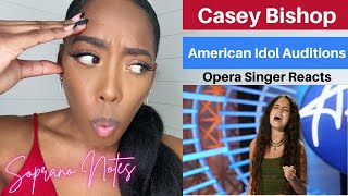 Opera Singer Reacts to Casey Bishop | American Idol Auditions 2021 | Performance Analysis |