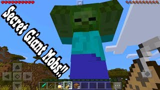 How To Spawn Secret Giant Mobs In Minecraft Pocket Edition!!